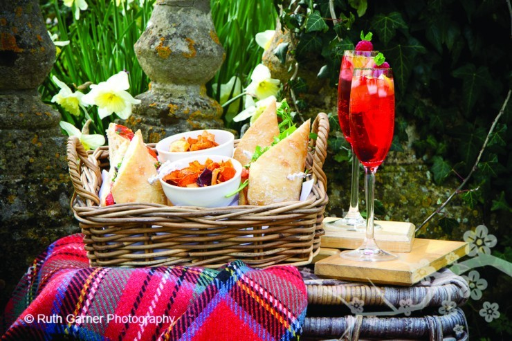 A luxury picnic from Woolley Grange Hotel in Bradford on Avon