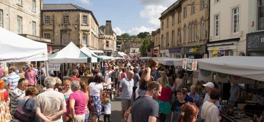 Frome Market, close to Woolley Grange luxury family hotel in Bradford on Avon