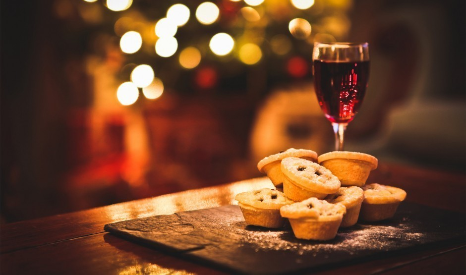 Mince pies and mulled wine at a luxury family hotel