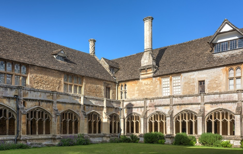 Lacock Abbey in Wiltshire, nearby to Woolley Grange Hotel in Bradford on Avon