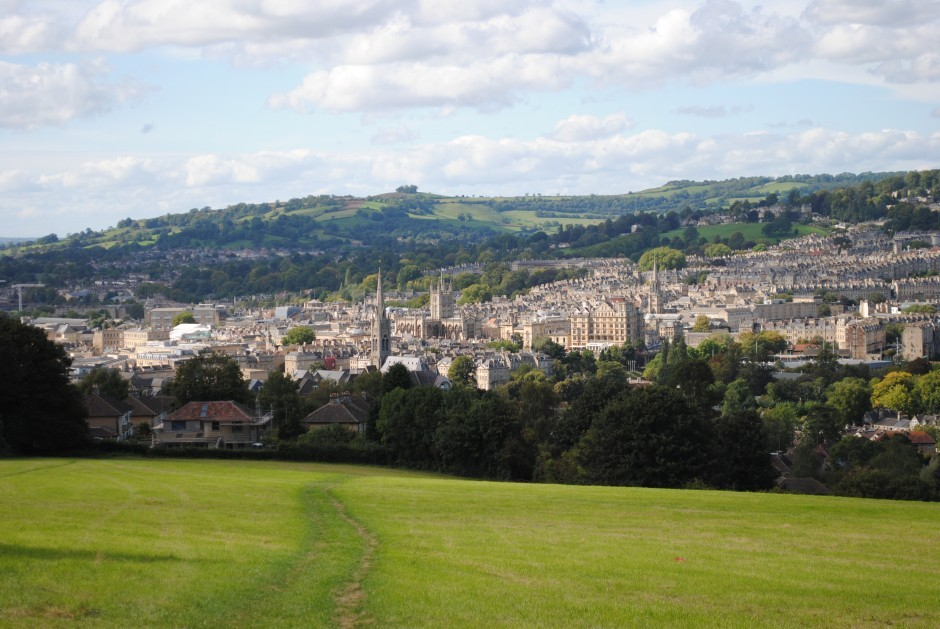 The Bath skyline, close to Woolley Grange Hotel