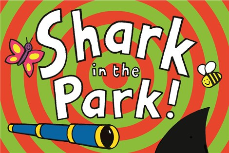 The poster for Shark in the Park – a children's play near Woolley Grange Hotel in Bradford on Avon