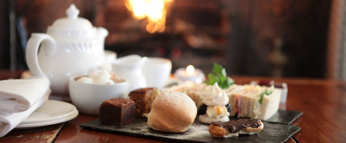 Afternoon tea at Woolley Grange Hotel