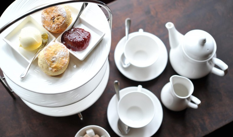 Afternoon tea at Woolley Grange luxury family hotel and restaurant in Bradford on Avon