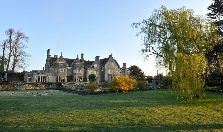 Enjoy afternoon tea in a Jacobean manor in Wiltshire at Woolley Grange hotel
