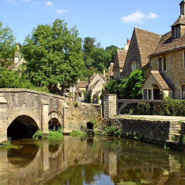 Castle Combe, a location used in the film War Horse