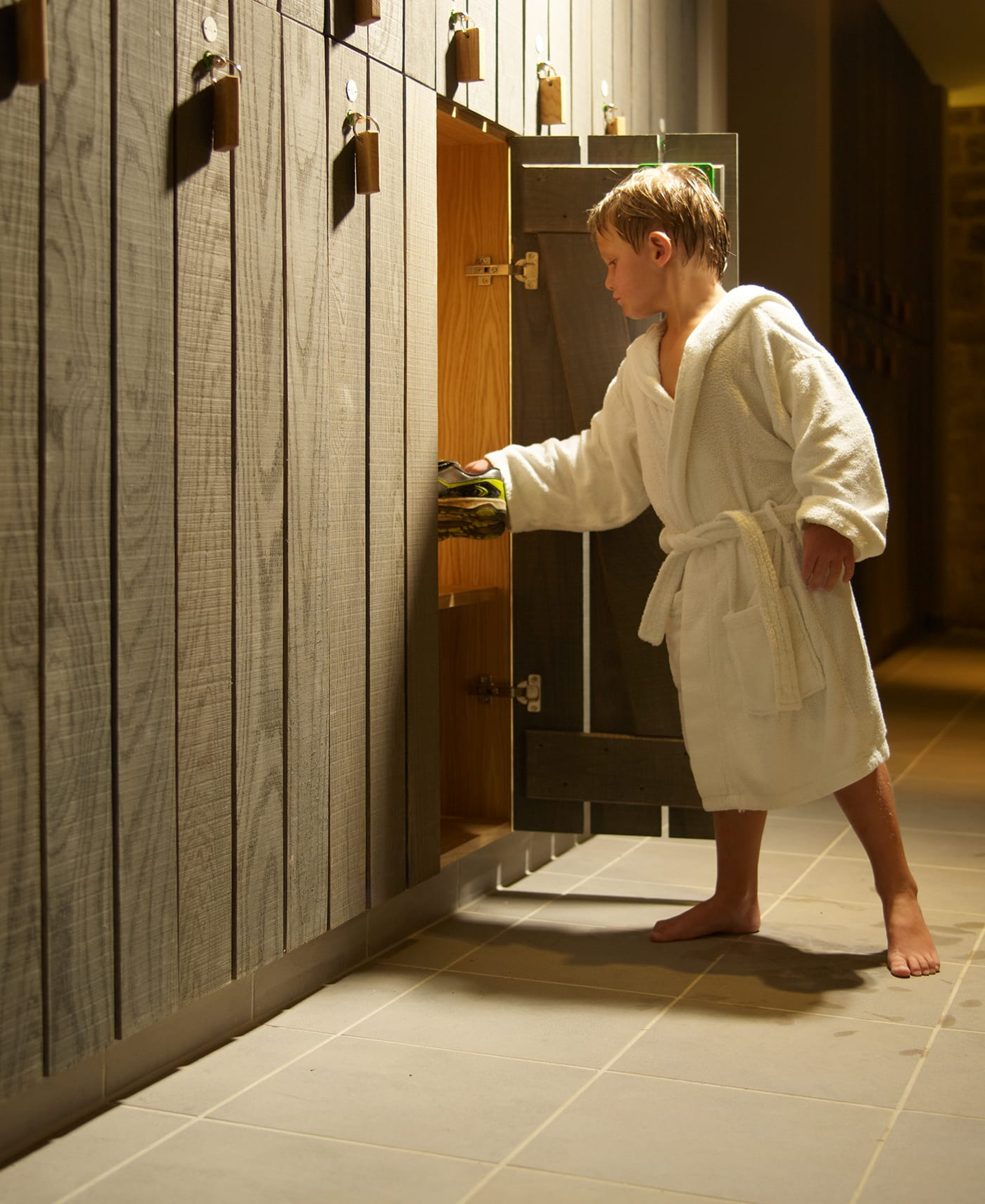A child at our family-friendly Wiltshire spa