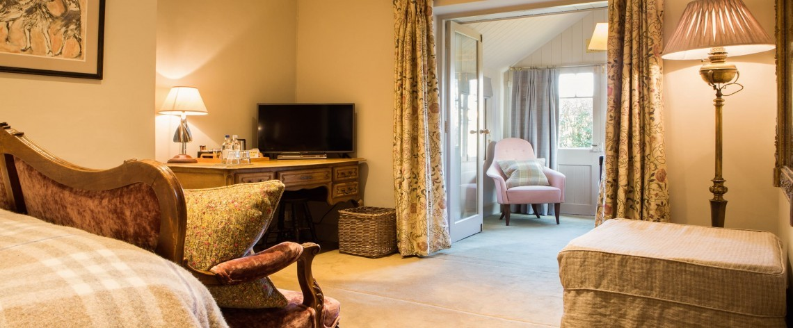 Family double room at Woolley Grange Hotel
