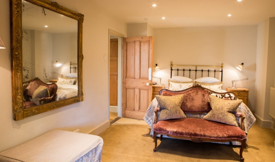 Manor house hotel room in Wiltshire at Woolley Grange