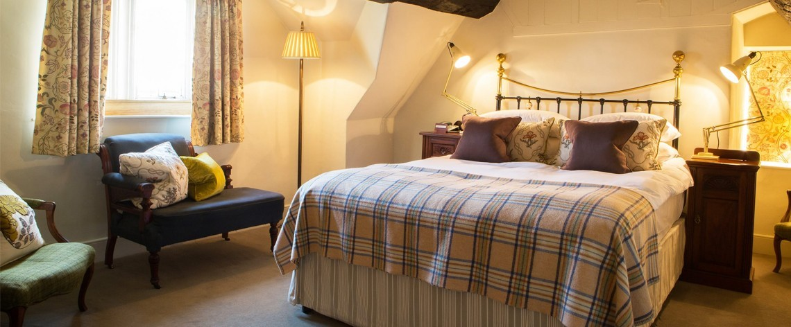 John Baskerville hotel suite at Woolley Grange in Wiltshire