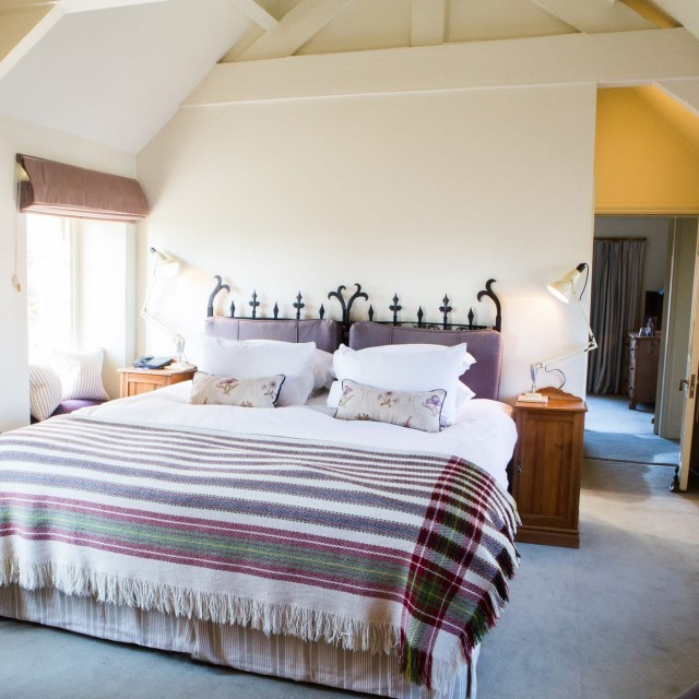 Comfortable bed at Woolley Grange Hotel